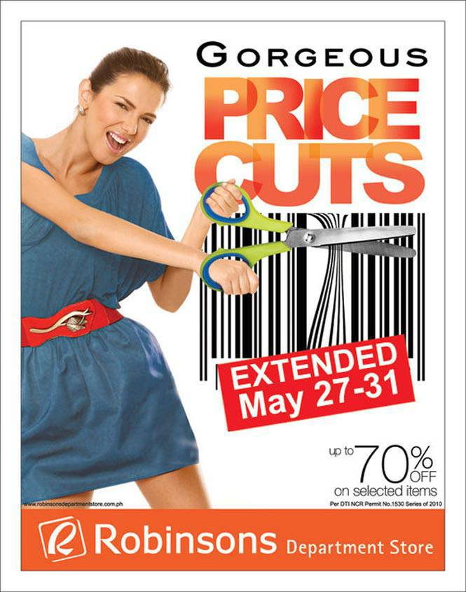Robinsons Department Store Price Cut Sale