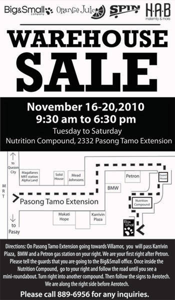 Big & Small Company warehouse sale