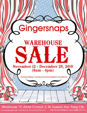 Gingersnaps Warehouse Sale