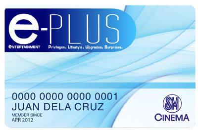 SM e-plus card