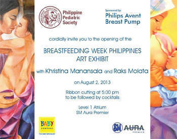 Breastfeeding month exhibit