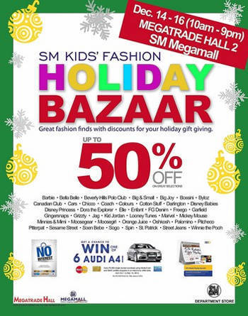 SM holiday kids fashion bazaar