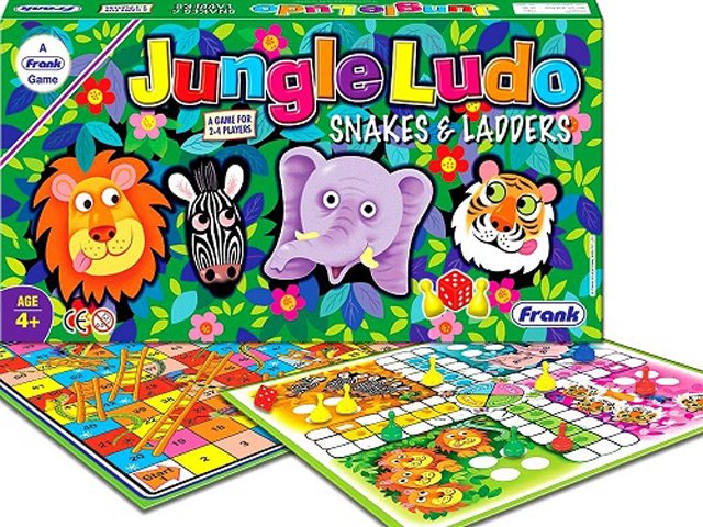Jungle Ludo snakes and ladders