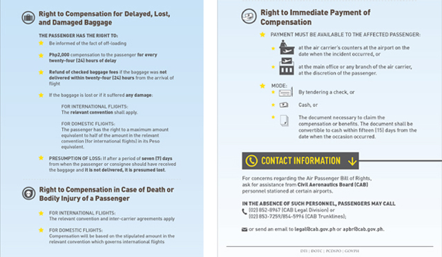Air Passenger Bill of Rights 6 and 7