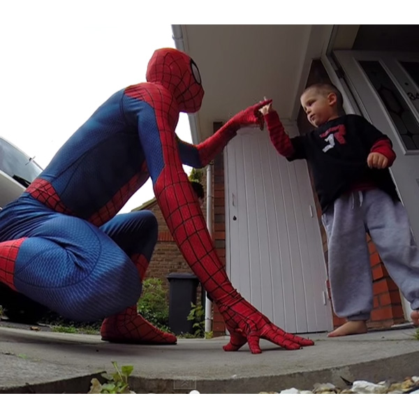 This Made our Day: Dad Dressed as Spider Man Surprises Terminally Ill Son