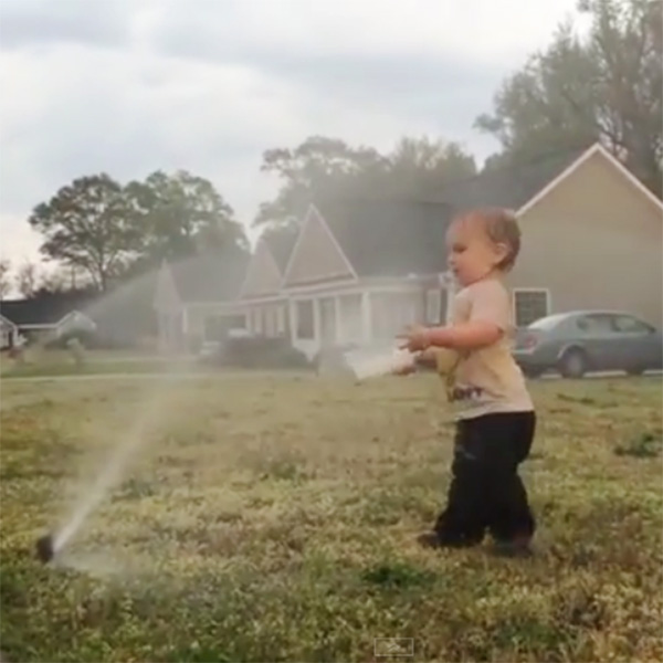 This Made our Day: Toddler Has A Lot of Fun with the Sprinkler