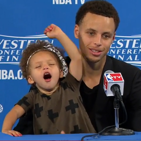 This Made our Day: NBA Star Stephen Curry's Daughter Adorably Upstages Dad at PressCon