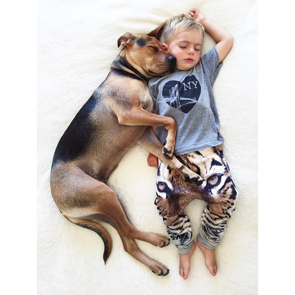 This Made our Day: Baby and Dog are Kindred Spirits