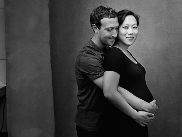 Mark Zuckerburg and wife