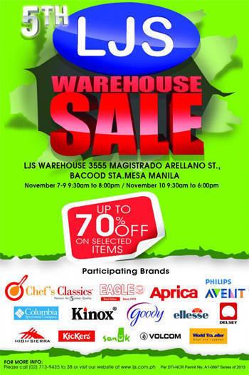LJS Warehouse Sale