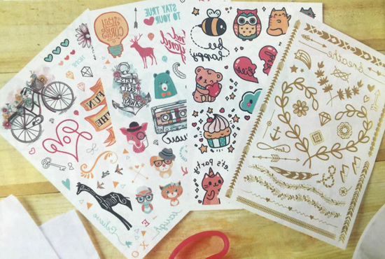 this temporary tattoo book has some of the cutest designs