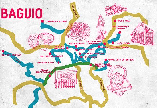 Baguio City Guide SPOTph - Baguio map
