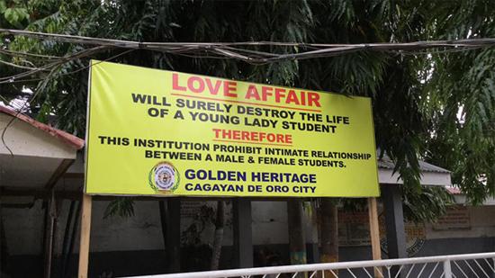 Cagayan de Oro City school imposes strict 'no relationship