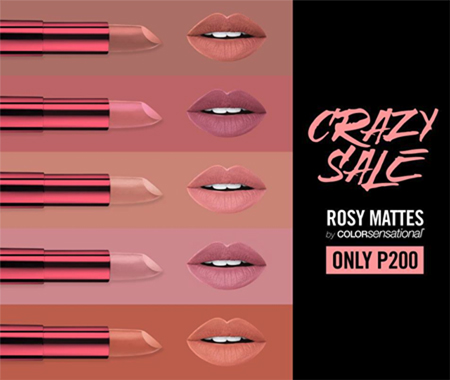 ... Lipstick junkies these rosy matte lippies are only P200