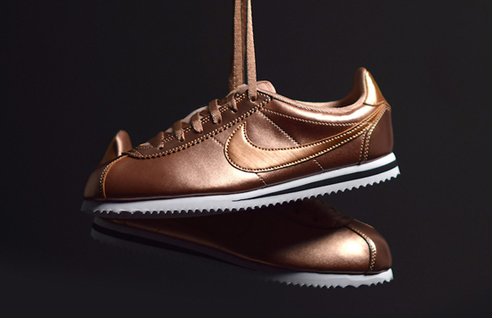 nike cortez rose gold metallic