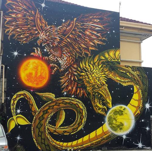 Ang Gerilya S Year End Mural Promotes Philippines Mythology