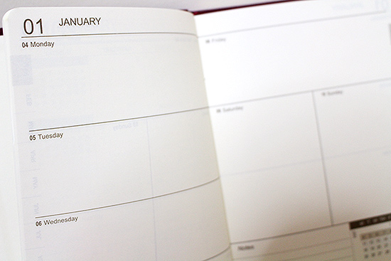 Sterling 2016 Executive Diary Weekly Design
