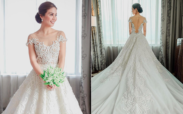 Beautiful Pinoy Celebrity Wedding Gowns Spotph