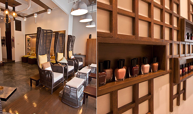 10 places with treatments that are 30 minutes or less for A spot nail salon