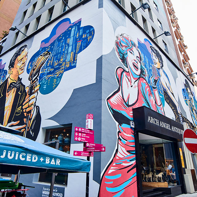 10 instagram friendly places in hong kong for Audrey hepburn mural soho