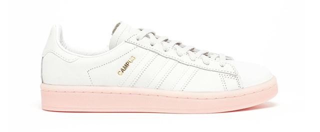 Adidas Originals Campus en blanco y helado rosa Sole