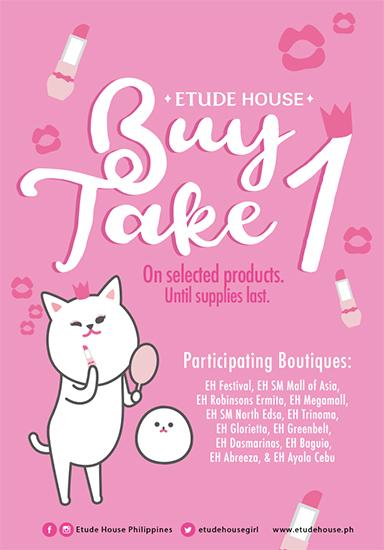 Buy one take one promo at etude house and tony moly spot enjoy buy one take one promo at etude house and tony moly stopboris Gallery