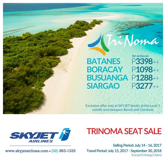 Skyjet offers promo fares this weekend at trinoma spot share stopboris Gallery