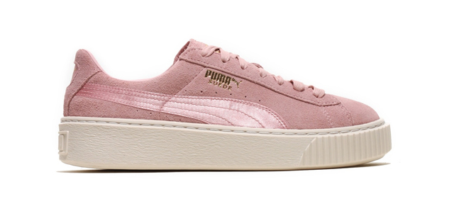 on sale 53b39 3fd76 Puma's Suede Platform Women's Satin Pack