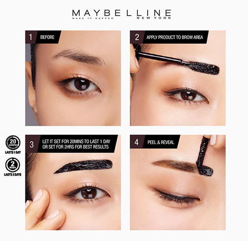 Maybelline new tattoo brow gel tints for killer arches for Maybeline tattoo brow