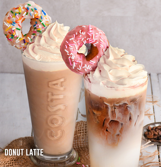 Costa Coffee Launches Donut-Coffee Drinks