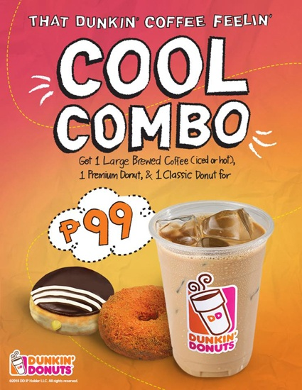 Get Two Doughnuts and a Coffee for Only P100