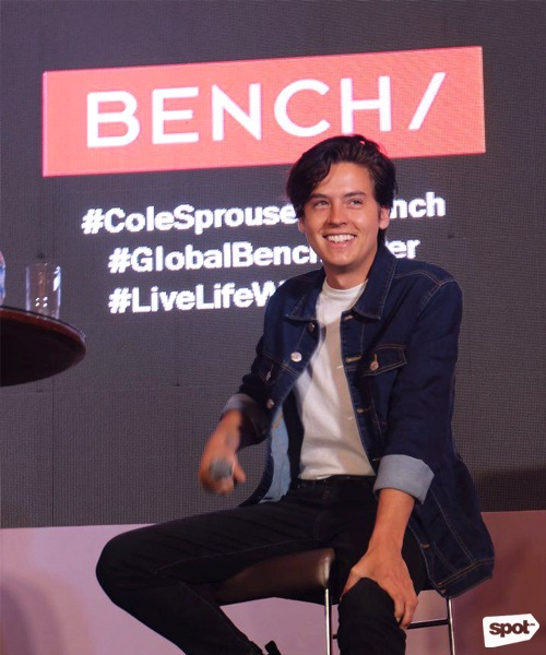 Photos of cole sprouse press conference in manila spot share m4hsunfo