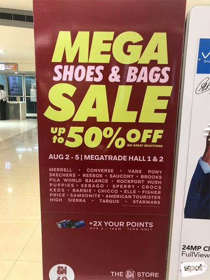5f3b7c57b3a Mega Shoes and Bags Sale  August 2018
