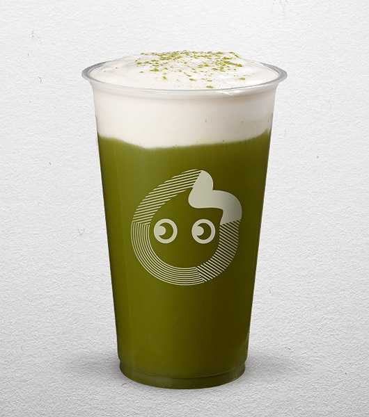 Coco Matcha Slush With Salty Cream