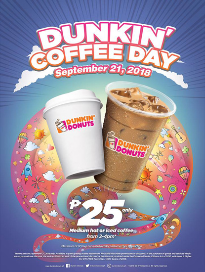 Dunkin' Donuts Offers a Coffee Discount for One Day Only