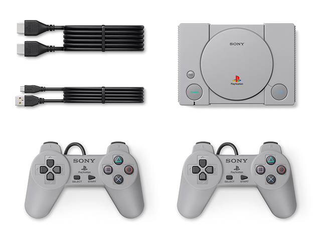 The Play Station Classic comes with HDMI ports and replica controllers