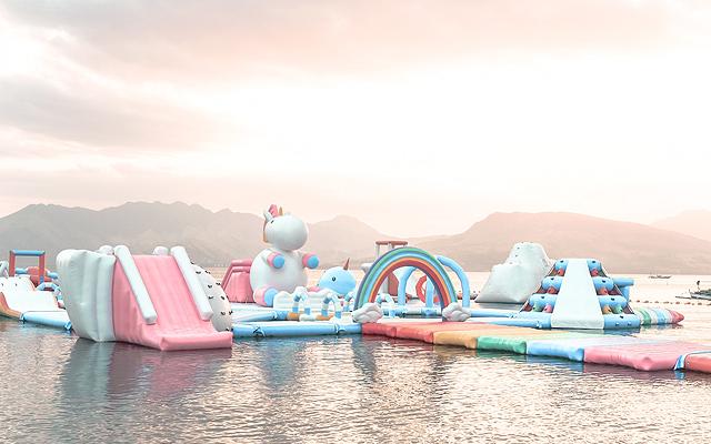 Inflatable Island Opens in Mactan, Cebu