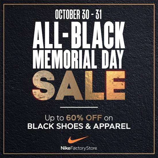 Nike Factory Store Memorial Day Sale