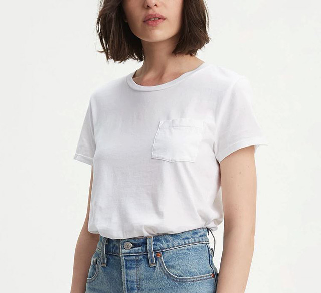 574044450dd8fd Perfect Pocket Tee Shirt (P999.50) from Levi's