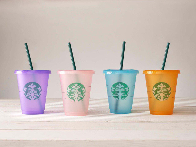Starbucks Now Has Colored Reusable Cups