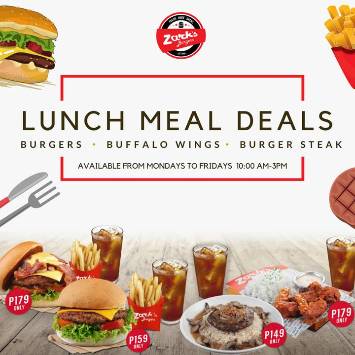 Lunch Meal Deals at Zark's Burgers