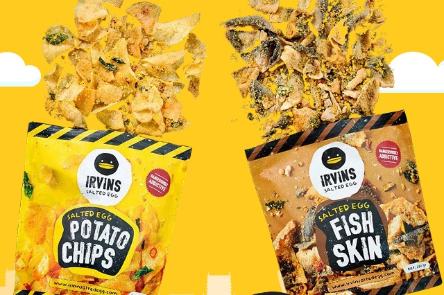 Irvins Salted Egg Potato Chips + Fish Skin