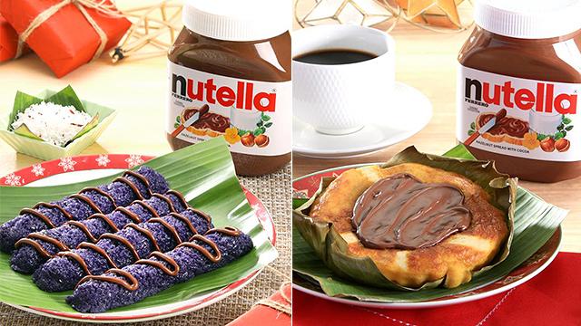 Nutella Bibingka and Puto Bumbong with Nutella