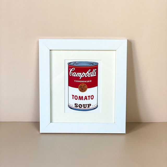 Framed Campbell Soup Can Offset Printed Postcard