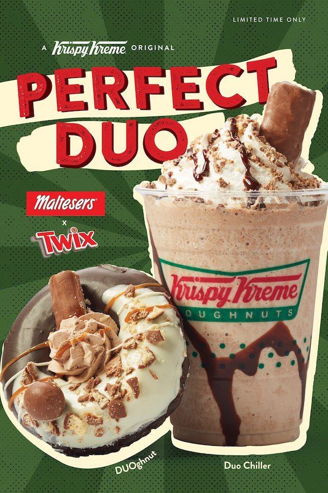 Twix and Maltesers Doughnuts and Chillers