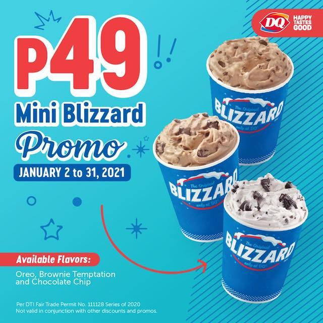 Mini Blizzards at Dairy Queen