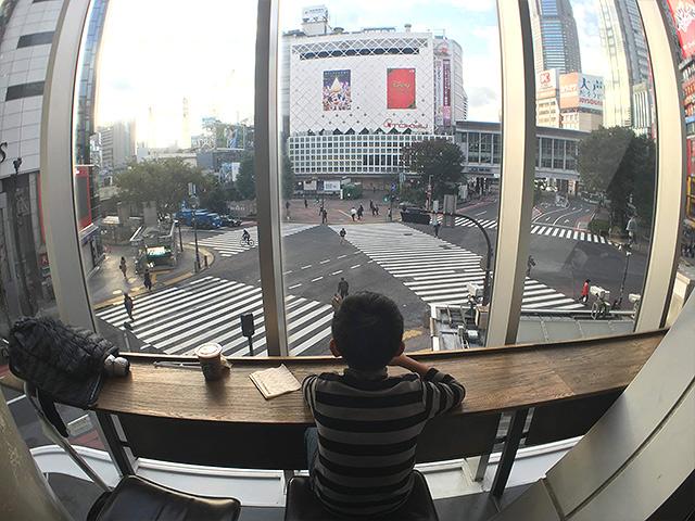 Shibuya Crossing view from the Starbucks