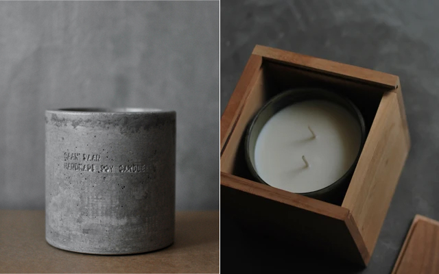 Large Candle in Concrete from Saan Saan