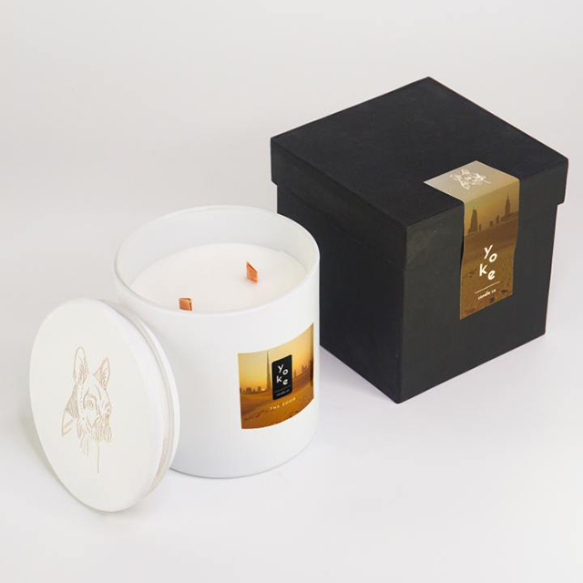 The Souq Wooden Wick Scented Organic Candles from Yoke Candle Co