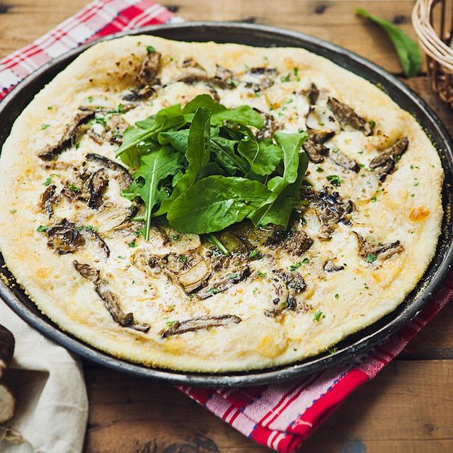 Mushroom & Garlic Pizza by Mary Grace Cafe